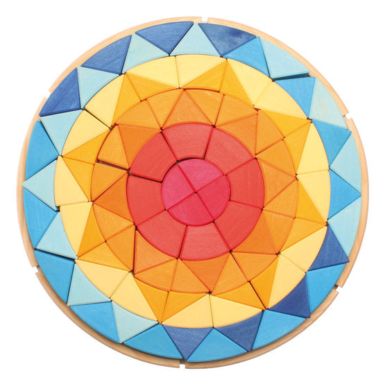 Grimm's Wooden Mandala Sun Puzzle - Large - Grimms - Tiny Paper Co. Afterpay Toy Store Australia