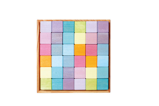 Grimm's Mosaic Square Puzzle - Pastel - Grimm's Spiel and Holz - Tiny Paper Co. Afterpay Toy Store Australia