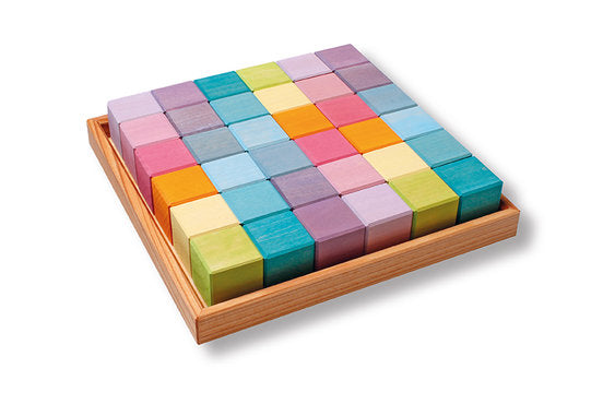 Grimms Mosaic Square Puzzle - various colours - Grimms - Tiny Paper Co. Afterpay Toy Store Australia