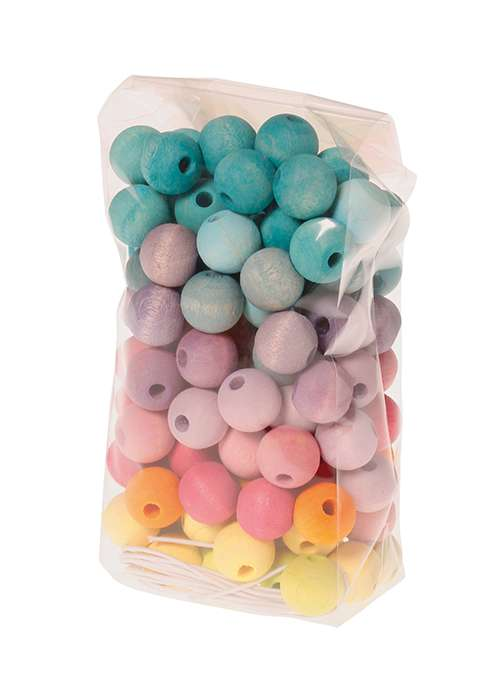 Grimms Small Pastel Beads 120pc - Grimms - Tiny Paper Co. Afterpay Toy Store Australia