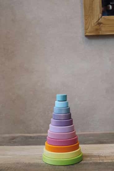 Grimm's Stacking Tower - Various Colors and Sizes - Grimms - Tiny Paper Co. Afterpay Toy Store Australia
