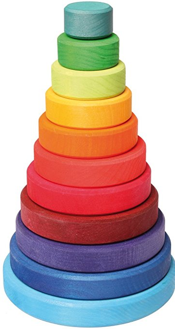 Grimm's Stacking Conical Tower - Various Colors and Sizes - Grimms - Tiny Paper Co. Afterpay Toy Store Australia