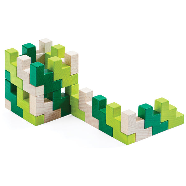HABA 3D Viridis Wooden Blocks - Haba - Tiny Paper Co. Afterpay Toy Store Australia