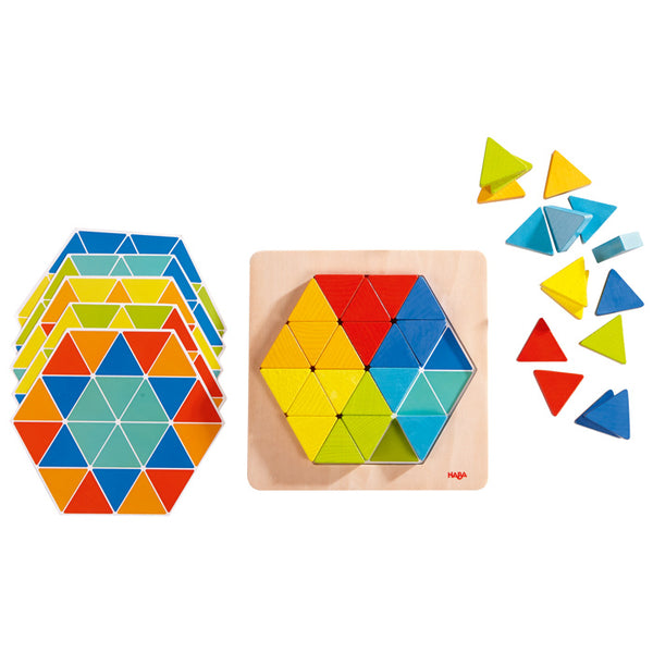 Haba 3D Magical Pyramid Wooden Blocks - Haba - Tiny Paper Co. Afterpay Toy Store Australia