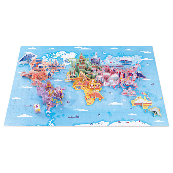 Educational Puzzles - World Map - Janod - Tiny Paper Co. Afterpay Toy Store Australia
