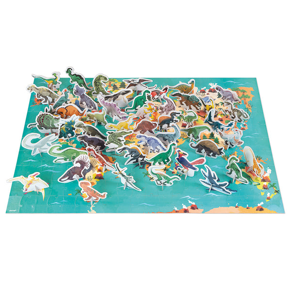 Educational Puzzles Dinosaurs - Janod - Tiny Paper Co. Afterpay Toy Store Australia
