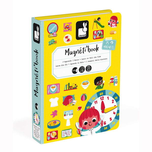 Learn Time Magnetibook - Janod - Tiny Paper Co. Afterpay Toy Store Australia