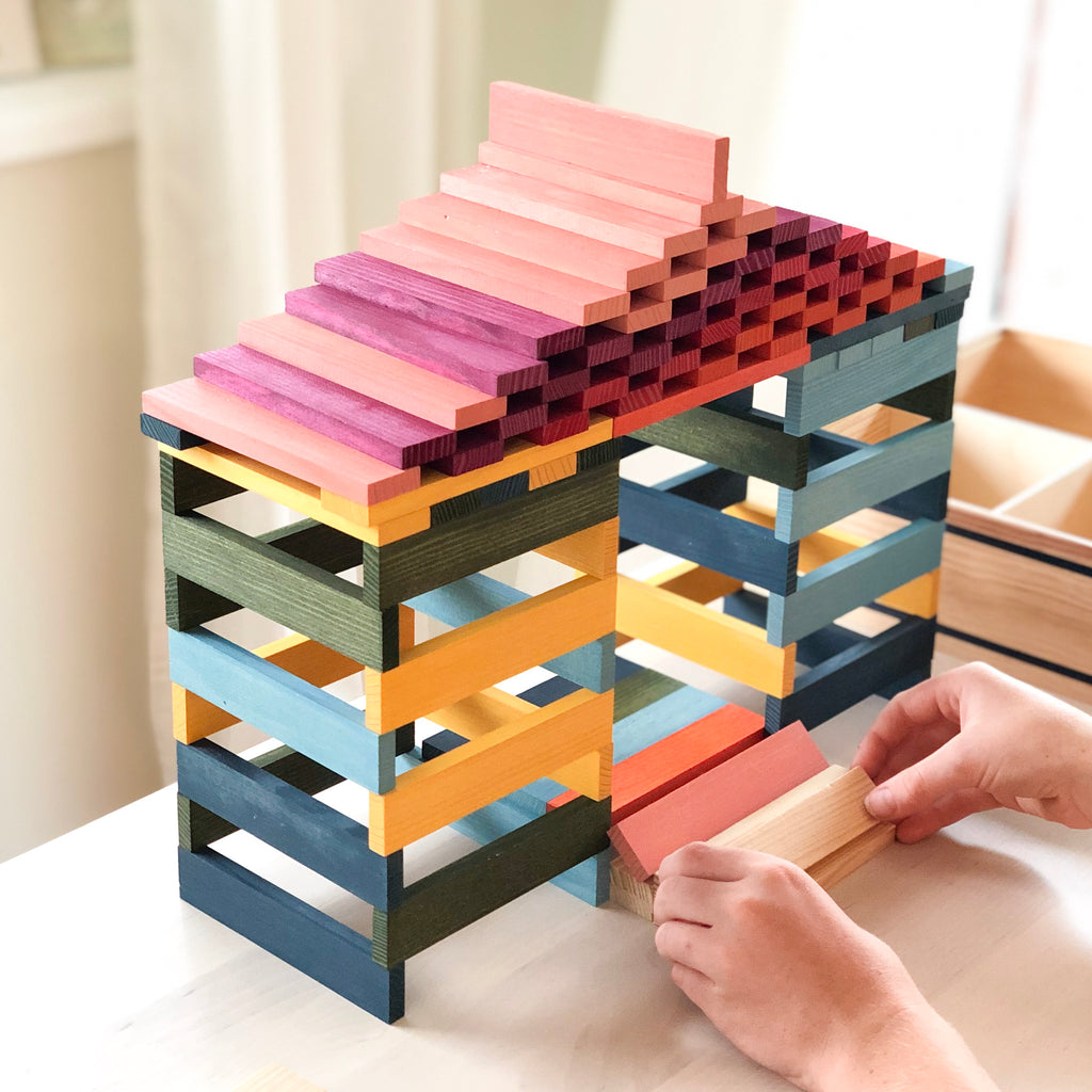 Kapla Octocolour 100 Planks - Kapla - Tiny Paper Co. Afterpay Toy Store Australia