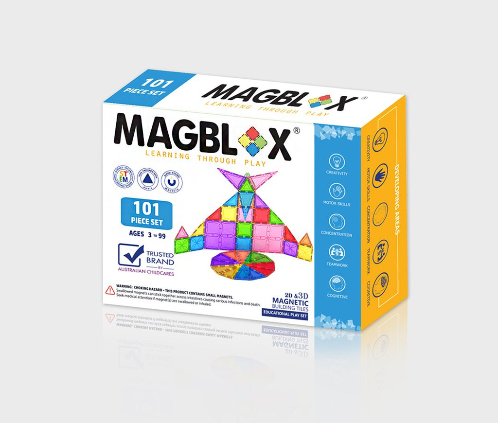Magblox 101 pc - Magblox - Tiny Paper Co. Afterpay Toy Store Australia