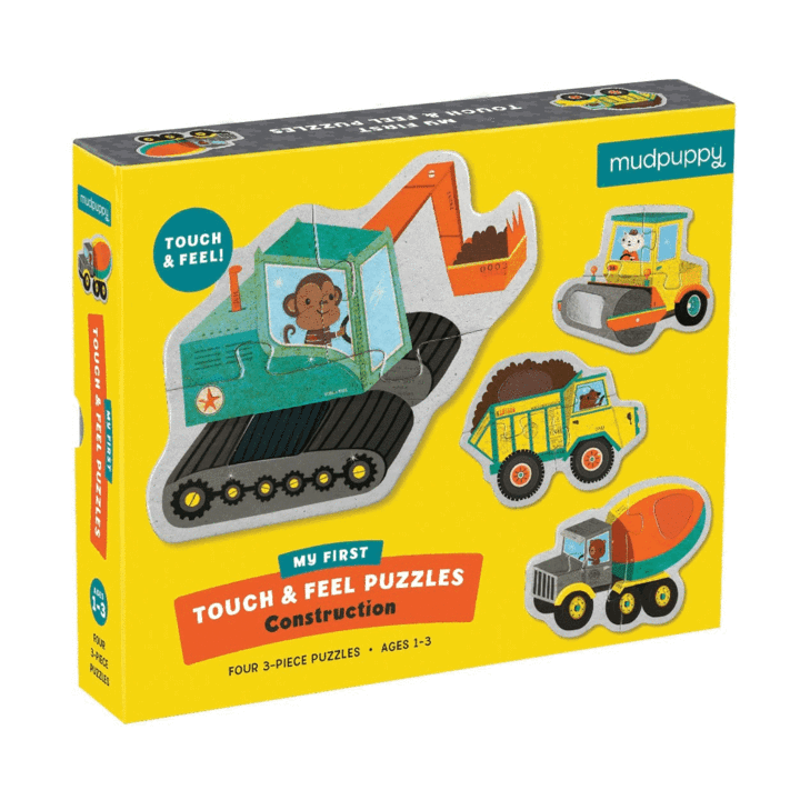 Mudpuppy Touch & Feel Puzzle - Construction - Mudpuppy - Tiny Paper Co. Afterpay Toy Store Australia
