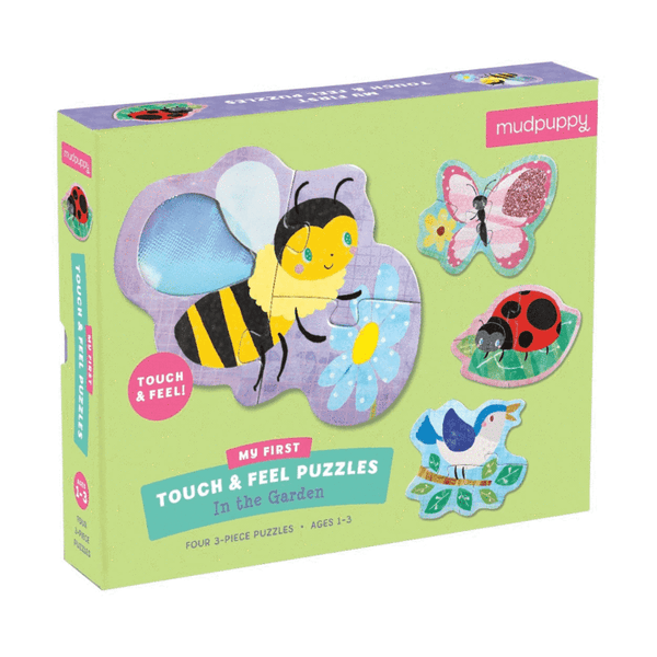 Touch & Feel Puzzle - In The Garden - Mudpuppy - Tiny Paper Co. Afterpay Toy Store Australia