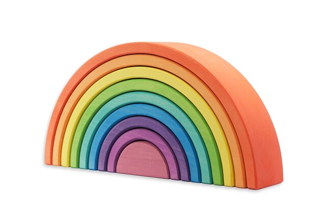 Ocamora Rainbows 9pc - Large - Ocamora - Tiny Paper Co. Afterpay Toy Store Australia