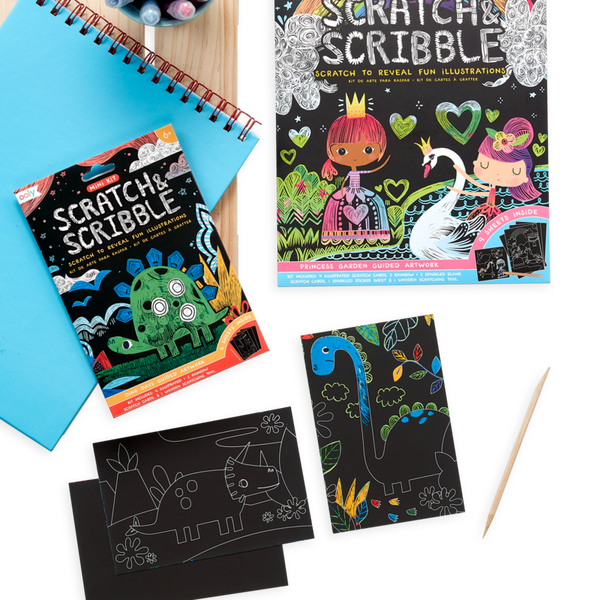 Scratch & Scribble Mini - Dino Day - Ooly - Tiny Paper Co. Afterpay Toy Store Australia