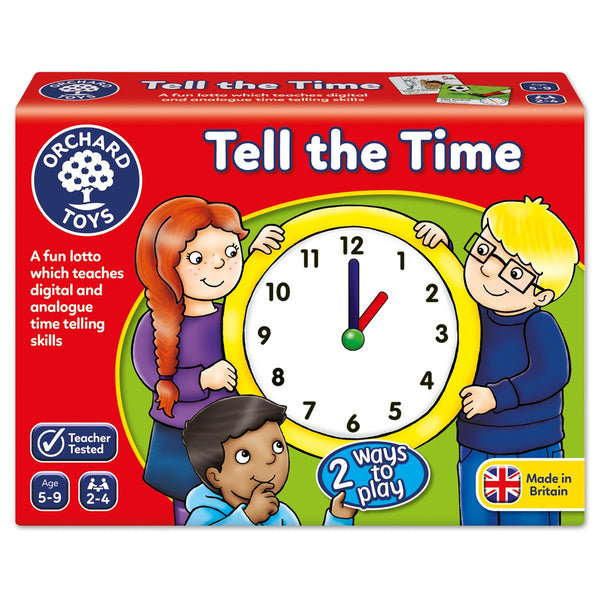 Tell The Time Lotto - Orchard Game - Orchard Toys - Tiny Paper Co. Afterpay Toy Store Australia