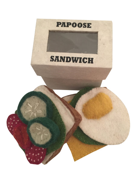 Papoose Toys Felt Sandwich Set - Papoose Toys - Tiny Paper Co. Afterpay Toy Store Australia