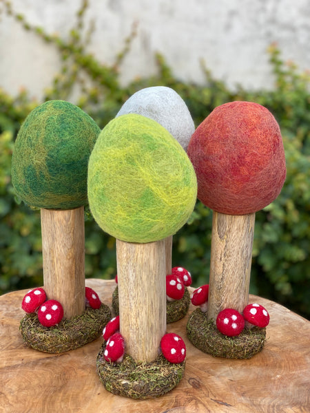 Woodland Felt Trees - Papoose Toys - Tiny Paper Co. Afterpay Toy Store Australia