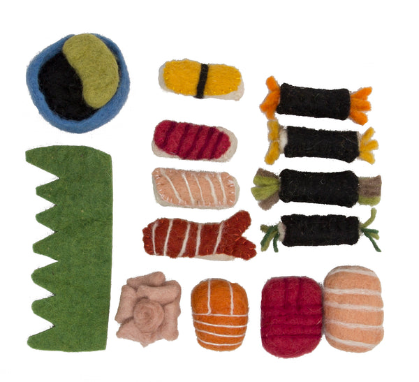 Papoose Toys Felt Sushi Bento Set - Papoose Toys - Tiny Paper Co. Afterpay Toy Store Australia