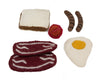 Papoose Toys Felt Breakfast Set - Papoose Toys - Tiny Paper Co. Afterpay Toy Store Australia