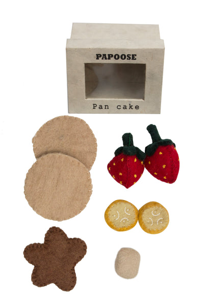 Papoose Toys Felt Pancake Set - Papoose Toys - Tiny Paper Co. Afterpay Toy Store Australia