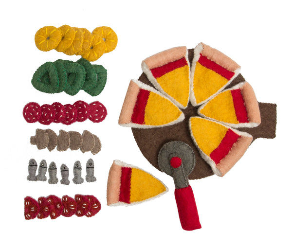 Papoose Toys Felt Pizza Set - Papoose Toys - Tiny Paper Co. Afterpay Toy Store Australia
