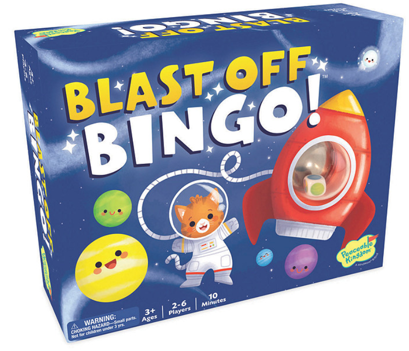 Blast Off Bingo - Peaceable Kingdom - Tiny Paper Co. Afterpay Toy Store Australia