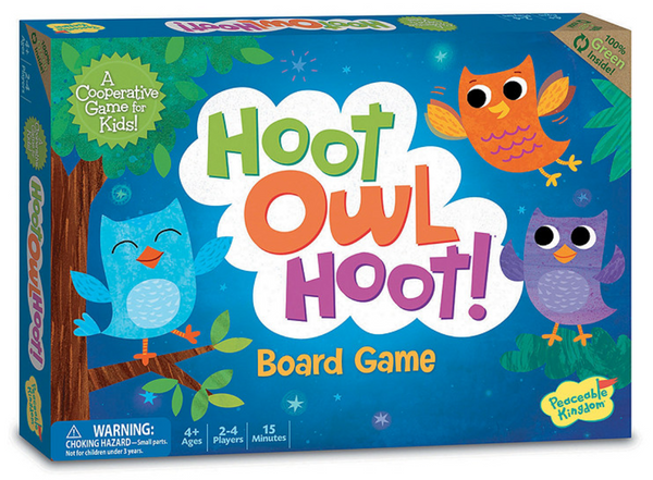 Hoot Owl Hoot - Cooperative Games - Peaceable Kingdom - Tiny Paper Co. Afterpay Toy Store Australia