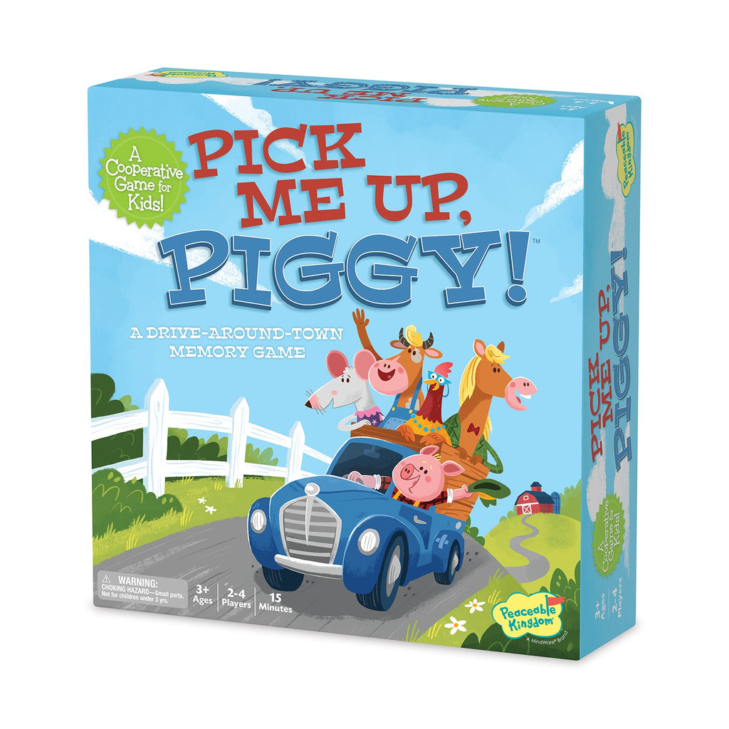 Pick Me Up Piggy Cooperation Game - Peaceable Kingdom - Tiny Paper Co. Afterpay Toy Store Australia