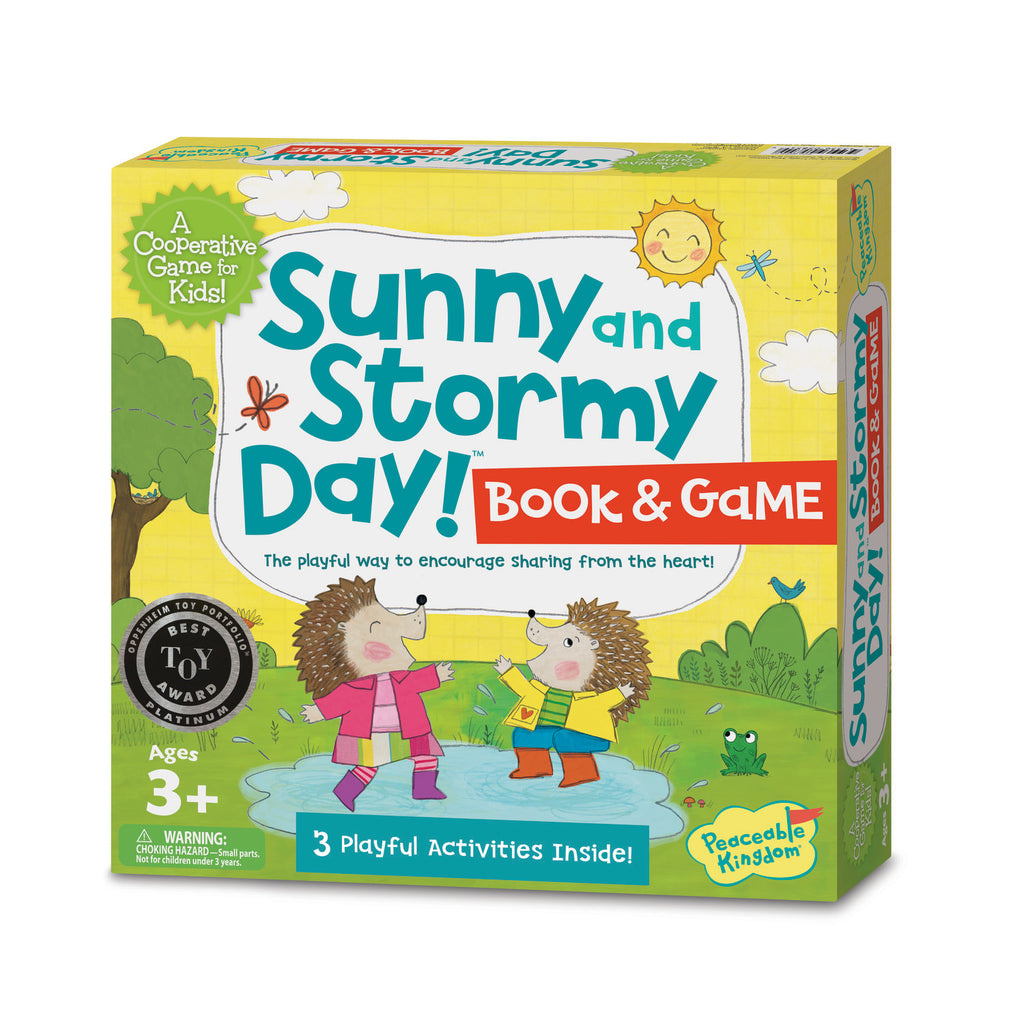 Sunny Stormy Day Book and Game - Peaceable Kingdom - Tiny Paper Co. Afterpay Toy Store Australia