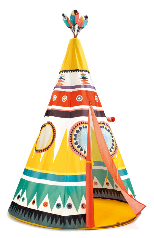 Play Tent Teepee - Djeco - Tiny Paper Co. Afterpay Toy Store Australia