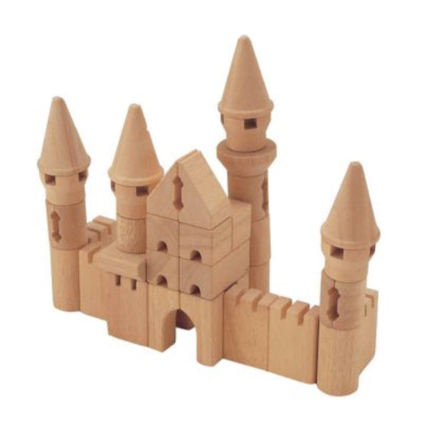 Castle Set Wooden Blocks - Blue Ribbon - Tiny Paper Co. Afterpay Toy Store Australia