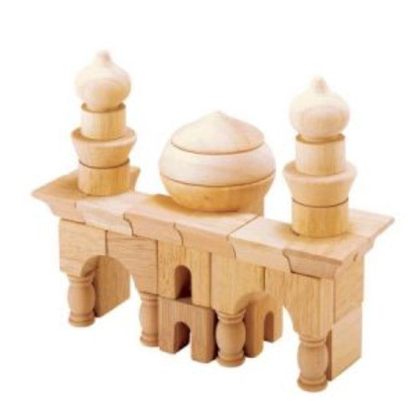 Arabian Set Wooden Blocks - Blue Ribbon - Tiny Paper Co. Afterpay Toy Store Australia
