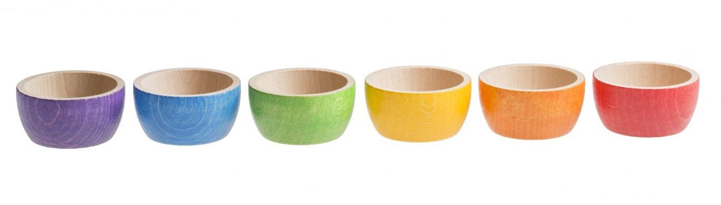 Grapat Coloured Bowl - Set of 6 - Grapat - Tiny Paper Co. Afterpay Toy Store Australia
