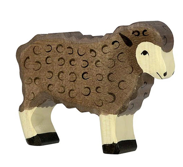 Holztiger Sheep Standing Black - Holztiger - Tiny Paper Co. Afterpay Toy Store Australia