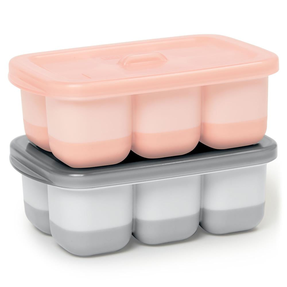 Easy Fill Freezer Tray Pink and Grey - Skip Hop - Tiny Paper Co. Afterpay Toy Store Australia