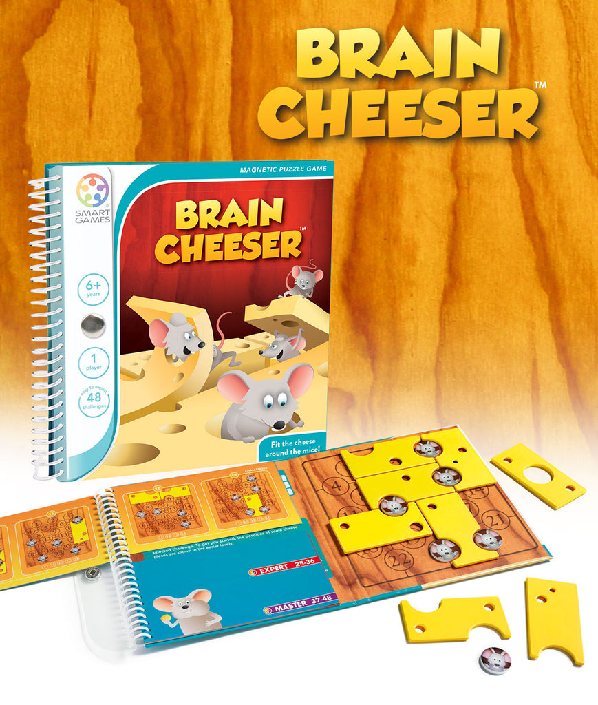 Brain Cheeser Magnetic Travel Games - Smart Games - Tiny Paper Co. Afterpay Toy Store Australia