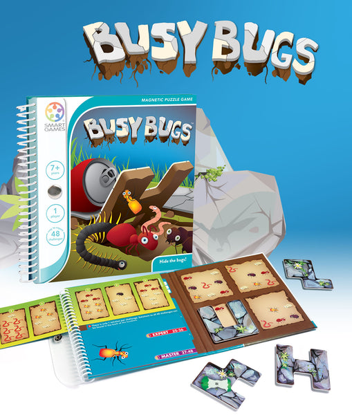 Busy Bugs Magnetic Travel Games - Smart Games - Tiny Paper Co. Afterpay Toy Store Australia