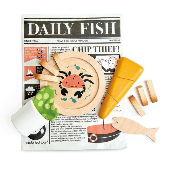 Fish and Chips Supper - Tender Leaf Toys - Tiny Paper Co. Afterpay Toy Store Australia