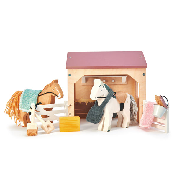 The Stables Dollhouse Accessories - Tender Leaf Toys - Tiny Paper Co. Afterpay Toy Store Australia