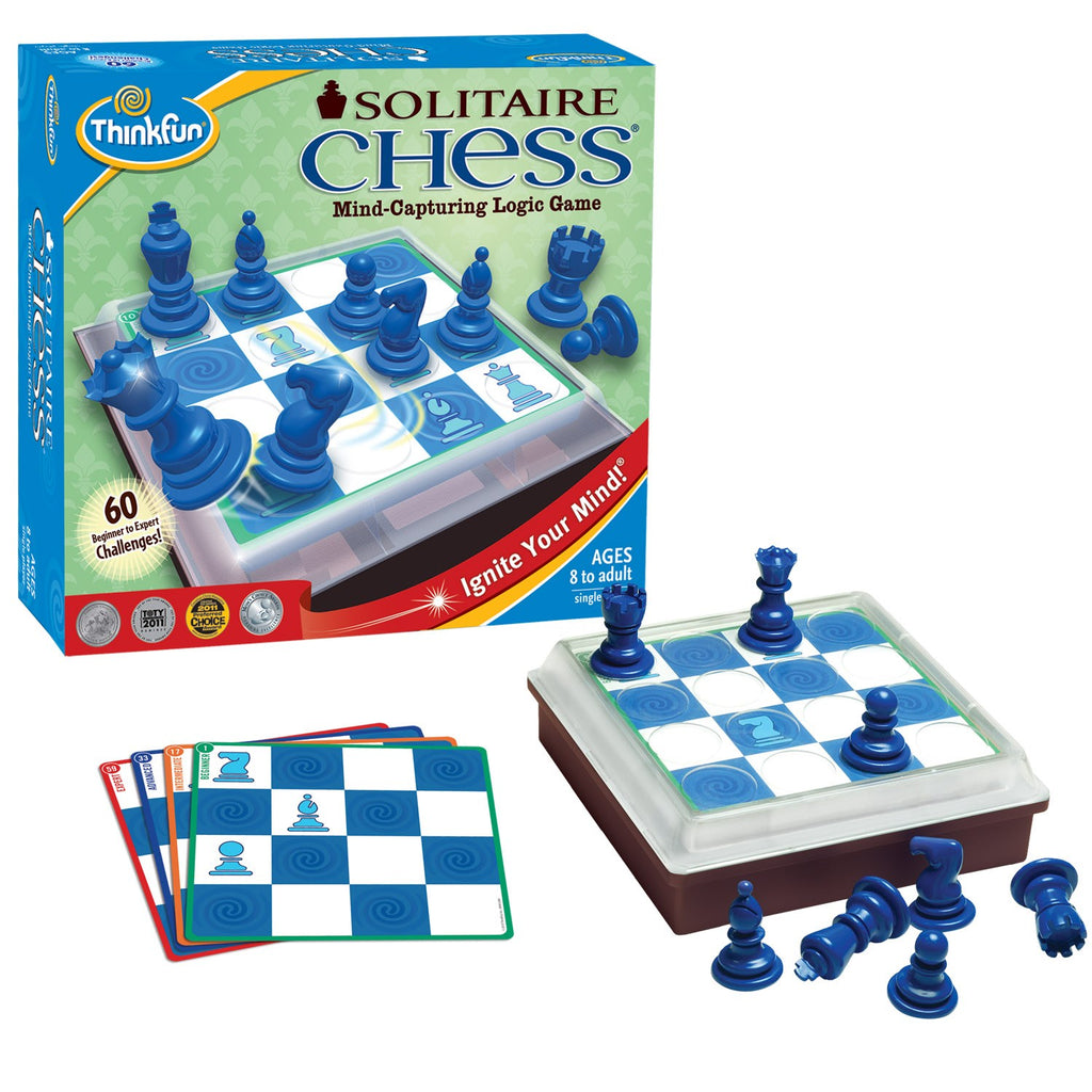 Solitaire Chess Game - Think Fun - Tiny Paper Co. Afterpay Toy Store Australia