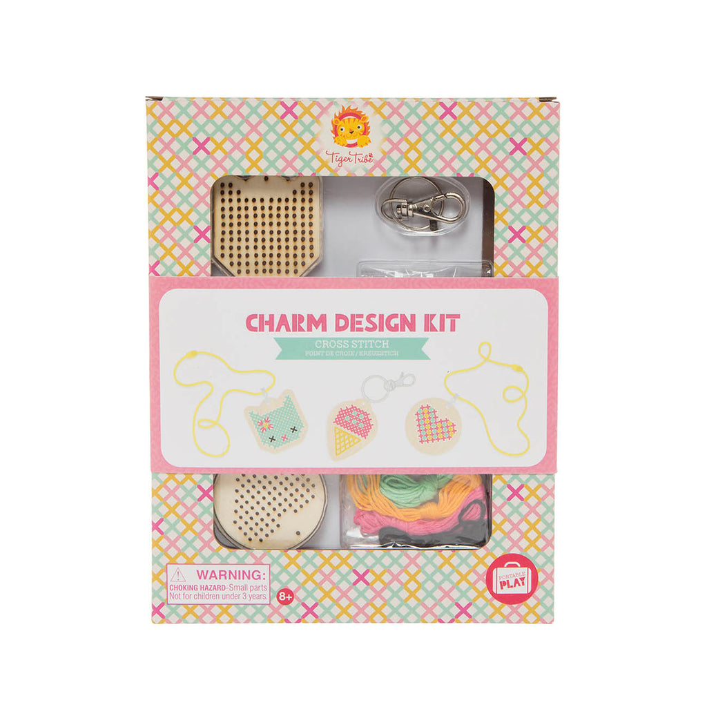 Charm Design kit - Cross Stitch - Tiger Tribe - Tiny Paper Co. Afterpay Toy Store Australia