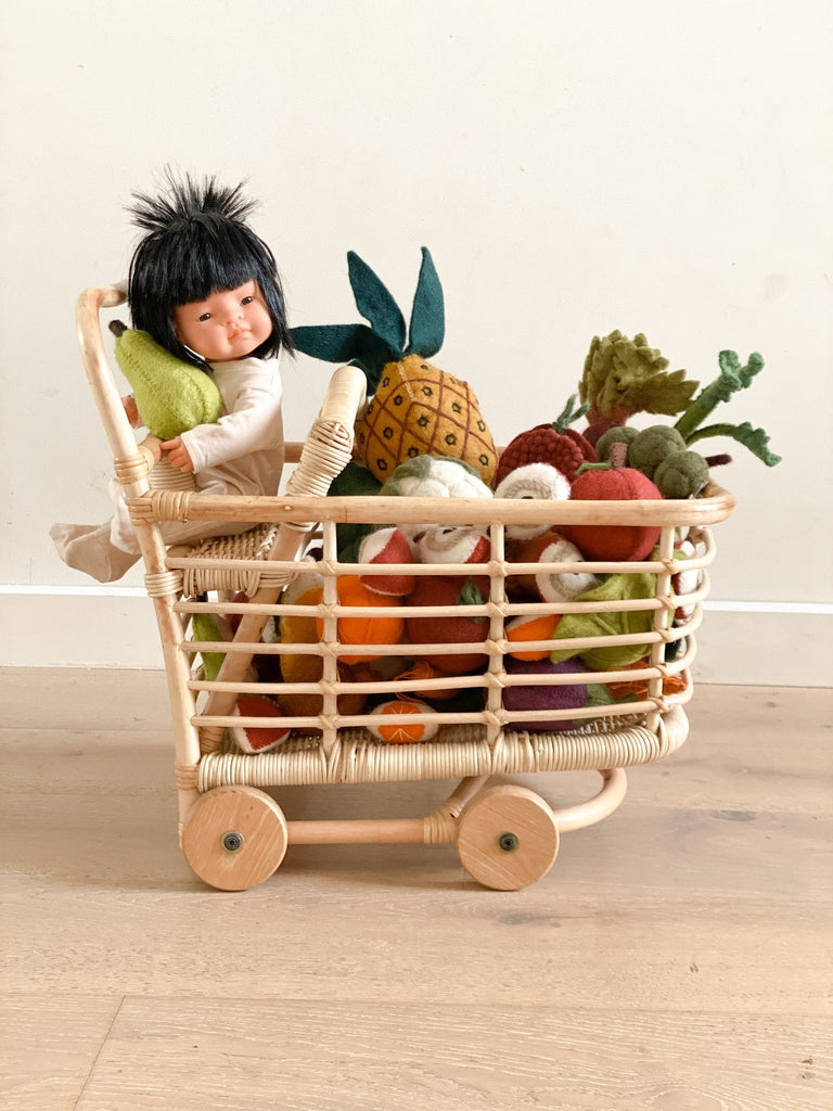 Tiny Harlow Rattan Shopping Trolley Arrival end of Sept Limited preorder available! - Tiny Harlow - Tiny Paper Co. Afterpay Toy Store Australia