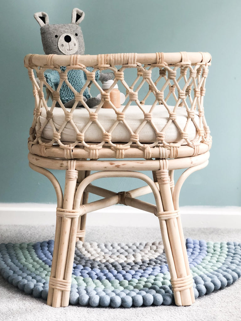 Tiny Harlow Rattan Doll Bassinet - Tiny Harlow - Tiny Paper Co. Afterpay Toy Store Australia