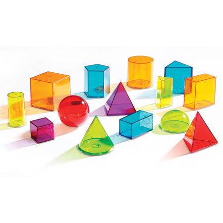 View Thru Geometric Solids - Learning Resources - Tiny Paper Co. Afterpay Toy Store Australia