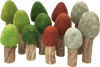 Papoose Toys Felt Trees - Light Trunks - Papoose Toys - Tiny Paper Co. Afterpay Toy Store Australia