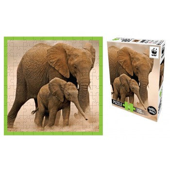 WWF Elephant puzzle 100pc - WWF - Tiny Paper Co. Afterpay Toy Store Australia