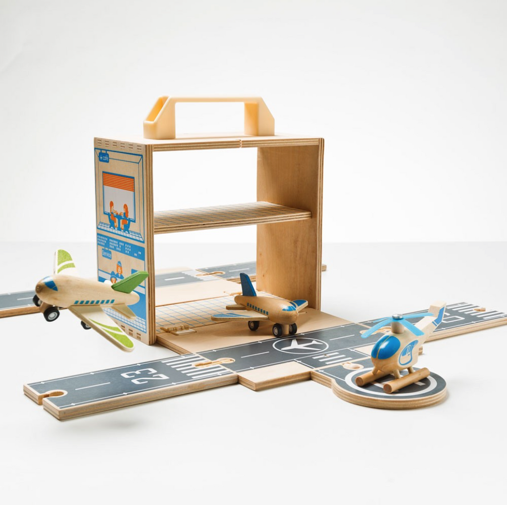 Airport Set - Boxset Wooden Plane Set-Toys-Tiger Tribe-Tiny Paper Co-Afterpay-Australia-Toy-Store - Tiger Tribe - Tiny Paper Co. Afterpay Toy Store Australia