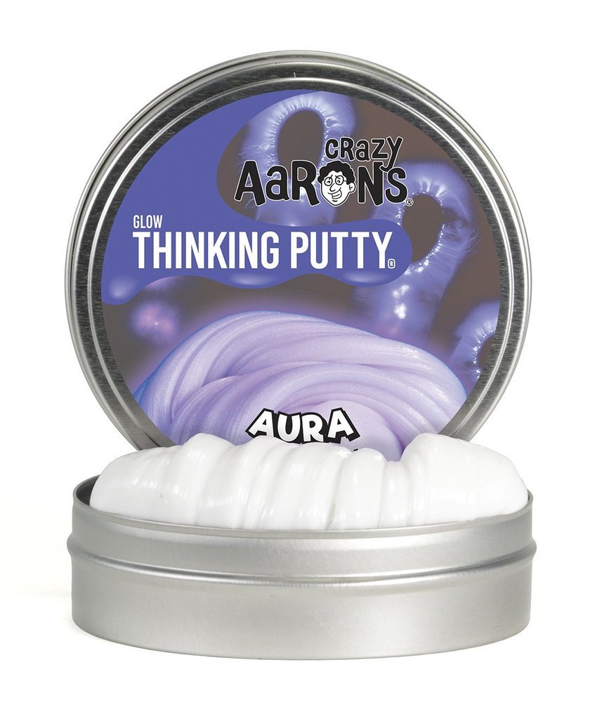 Aura Glow in the Dark Putty 2inch Tin-Toys-Crazy Aaron's-Tiny Paper Co-Afterpay-Australia-Toy-Store - Crazy Aaron's - Tiny Paper Co. Afterpay Toy Store Australia