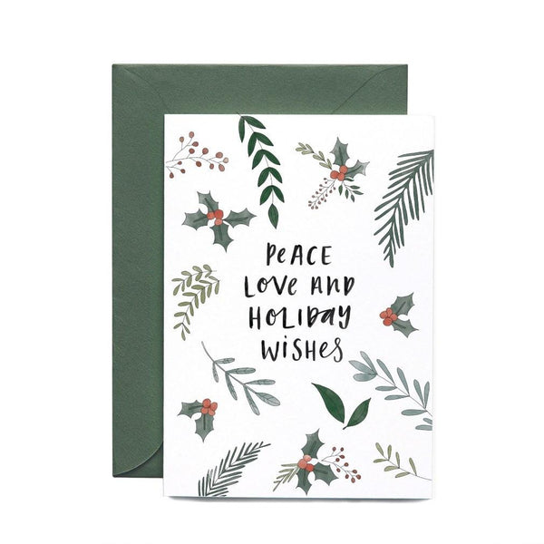 Christmas Cards - Peace Love-Greeting Cards-In The Daylight-Tiny Paper Co-Afterpay-Australia-Toy-Store - In The Daylight - Tiny Paper Co. Afterpay Toy Store Australia