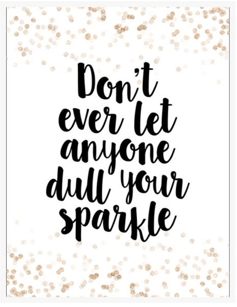 Don't Dull Your Sparkle-Decor-Ginger Monkey-Tiny Paper Co-Afterpay-Australia-Toy-Store - Ginger Monkey - Tiny Paper Co. Afterpay Toy Store Australia