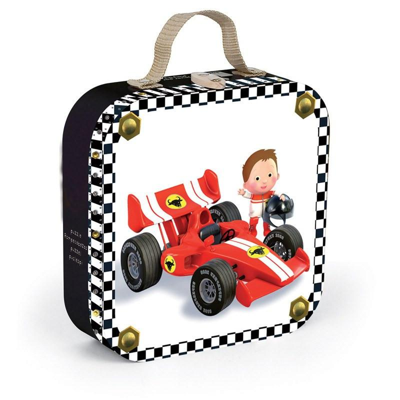 Gabins Formula 1 Car Puzzle-Puzzle-Janod-Tiny Paper Co-Afterpay-Australia-Toy-Store - Janod - Tiny Paper Co. Afterpay Toy Store Australia
